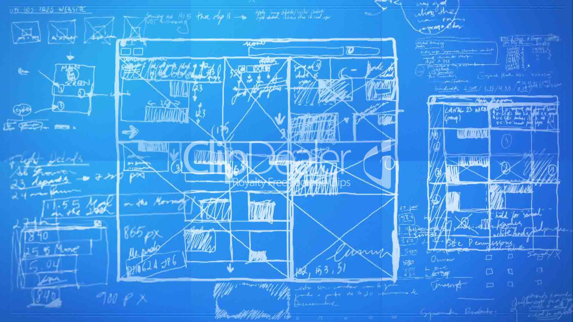 Blueprint design for Web design blueprints